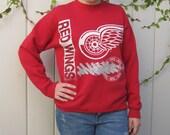 Vintage Detroit  Red Wings Hockey Sweater
