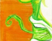 medusa tongue watercolor