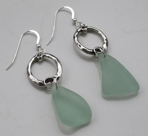 Sea Glass Earrings Sea Glass Jewelry E-07