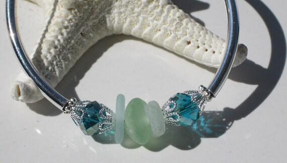 Sea Glass Bracelet Sea Glass Jewelry B-20