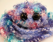 Silky Furry Jellyfish .. Amigurumi Stuffie Softie