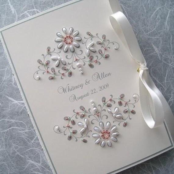 Custom Photo Album Personalized Beaded Keepsake - French Bouquet 5x7 or 6x7.5