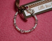 Pearl and Crystal Baby Bracelet