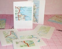 NEW ZEALAND - Road Atlas Note Cards and Envelopes