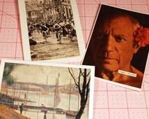 FRANCE - Vintage Atlas Note Cards and Envelopes