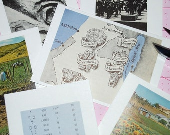 ISRAEL - Vintage Atlas Note Cards and Envelopes