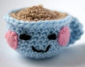 Little Blue Crocheted Teacup