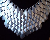 Stainless Steel Shield Maiden Scale Mail Necklace