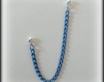 Denim Blue Cartilage Chain