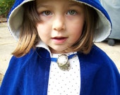 Reversible Blue and White Cape