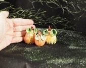 Miniature Porcelain Pumpkins