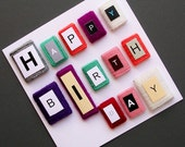 Handmade Wool Happy Birthday Card