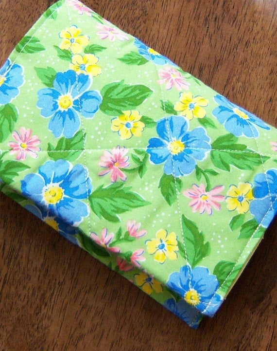 Fabric Book Cover Material ~ Quilted fabric paperback book cover