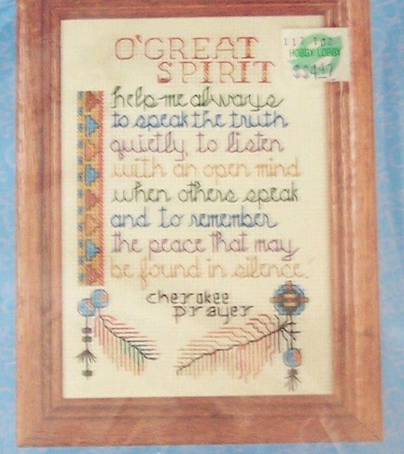 Cherokee Prayer Counted Cross Stitch Kit