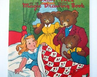 1940s The Three Bears Magic Drawing Book Platt & Munk