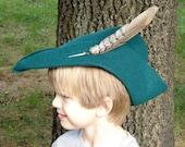 Costume Robin Hood hat, poly felt