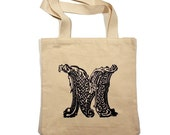 LOYALTY AND BLOOD - Letter M Totebag - Small