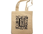 LOYALTY AND BLOOD - Letter U Totebag - Small