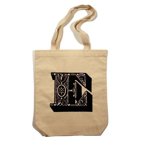 LOYALTY AND BLOOD - Letter E Totebag - Small