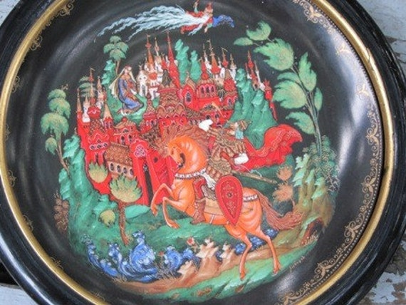 Slavic Collector Plate wall hanging- Medieval Czar Castle