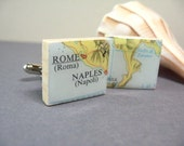 Cuff Links - Rome, Naples and the boot - one of a kind
