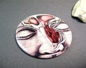 Pocket Mirror - Sinus / black and white anatomy