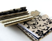 12 Large Matchbook Notepads in Black, Brown, Vanilla