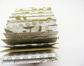 24 Business, ACEO or Escort Card Envelopes - olive green and white
