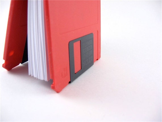 Red Floppy Disk Mini Notebook