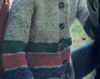 Knit Button Down Cardigan Hoodie Pattern