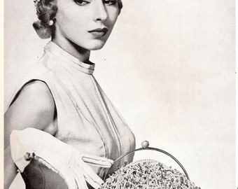 Vintage Crocheted Hat and Bag Set - ST. LOUIS