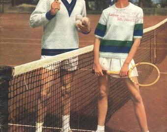 Vintage Knitting Pattern Sporty Fun 1