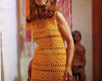 Vintage crochet DRESS pattern - MARANA