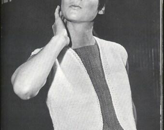 Vintage Knit Vest Bolero Style - PDF