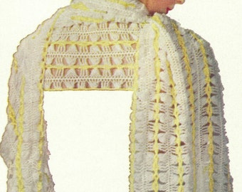 Vintage Hairpin Lace Stole Pattern - PDF - ILLUSION