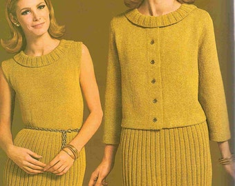 Knit Dress Suit with matching Jacket - Simply STUNNING