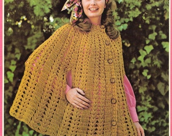 Crochet Cape Pattern - PDF