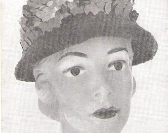 Crochet Bangle Hat Pattern - Pdf - PORCUPINE BRIM HAT