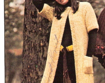 COAT - Knit Coat Pattern Pdf