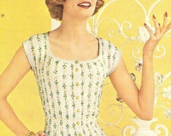 BLOUSE - Lacy Crochet Blouse Pattern
