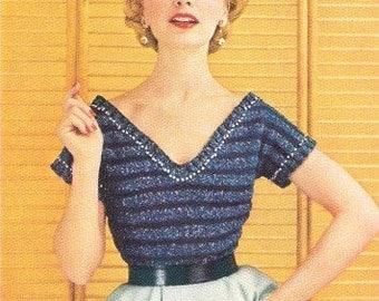 BLOUSE - Knit Evening Sweater Pattern