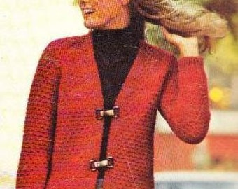 BUCKLE UP - Knit Jacket Pattern