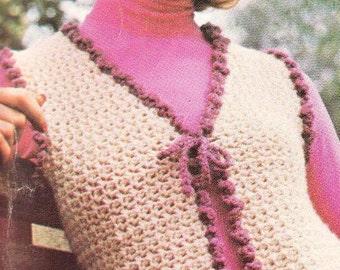 FROU FROU Vest- Crochet Vest Pattern