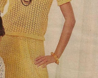 FORSYTHIA LACE dress pattern - on right (MS69)