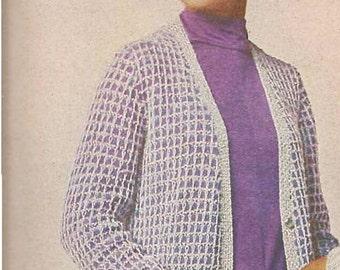 EVENING Cardigan pattern - (MS70)