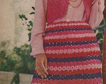 Circled Set Crocheted Skirt  pattern - (MS71)