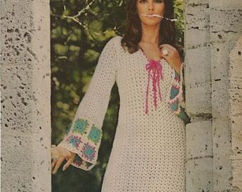 Guinevere Crochet Dress pattern  - (MS71)