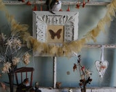 Sparkles in Nature - Vintage Dragonfly and Butterfly Fabric Wings Garland