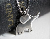SALE - Baby Elephant Necklace - Sterling Silver Ellie - best friends good fortune