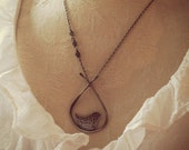 modern bird necklace - sterling silver perched bird necklace